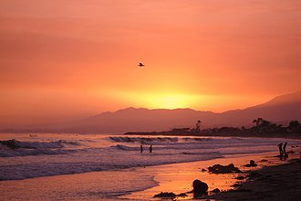Carpinteria, California - Sunset on the beach (end of Linden Ave)