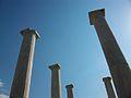 Casa de Dionís, columnes del pati, Delos.JPG