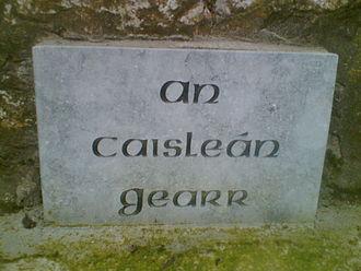 Castlegar, County Galway - Plaque at Castlegar Castle