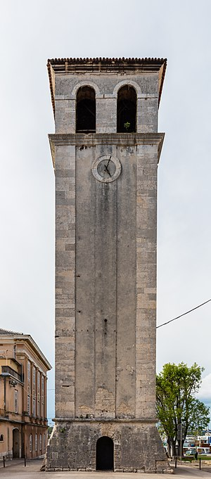 Pula Cathedral - View of the tower.