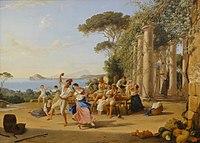 Catel, Franz Ludwig — Volksfest bei Pozzuoli — 1823.JPG