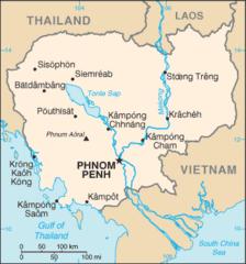 Mapa Kambodży