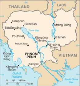 Cambogia - Mappa