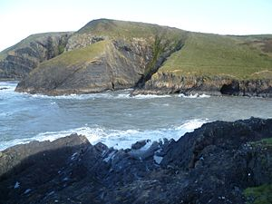 Ceibwr Bay - Ceibwr Bay, looking north across the entrance to Ceibwr Cove