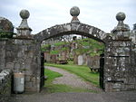 File:Cemetery Gates and stones, Kirkcudbright - geograph.org.uk - 69728.jpg
