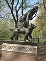 Central Park NYC - 'Indian Hunter' Statue by John Quincy Adams Ward - IMG 5711.JPG