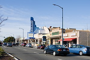 El Cerrito, California - San Pablo Avenue, with the historic Cerrito Theater