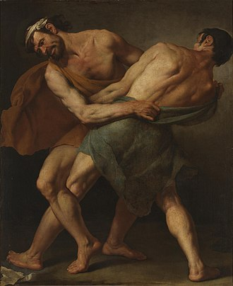 Cesare Fracanzano - Two wrestlers, now in the Prado in Madrid