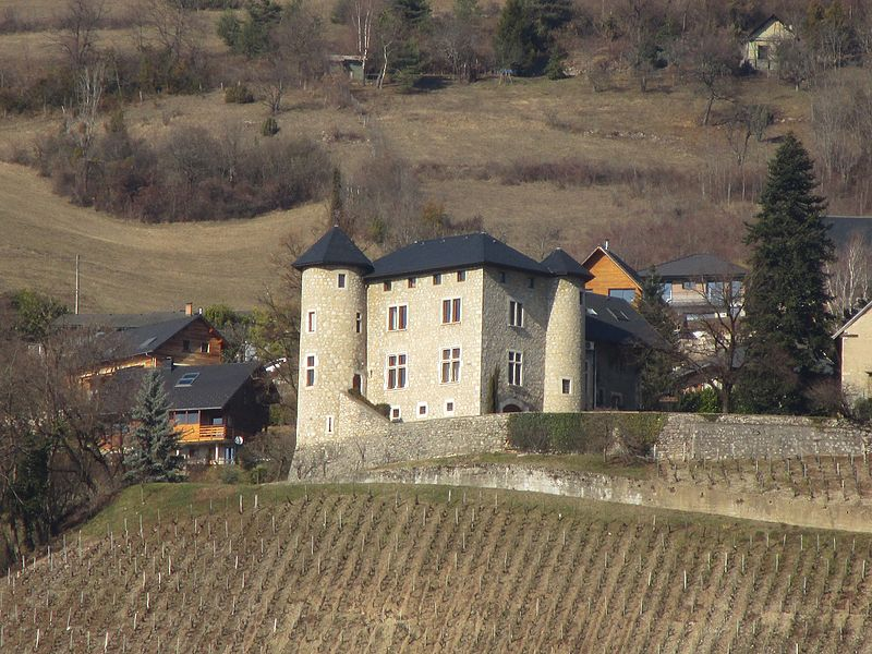 The château de Monterminod in Saint-Alban-Leysse on February 18, 2017.