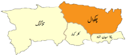 Location of تحصیل چکوال