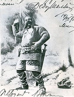 Chaliapin F. (Шаляпин Ф. И.) 1901 as Farlaf in Ruslan and Lyudmila.jpg
