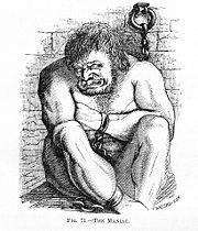 Le maniaque Dessin de Charles Bell (1806).