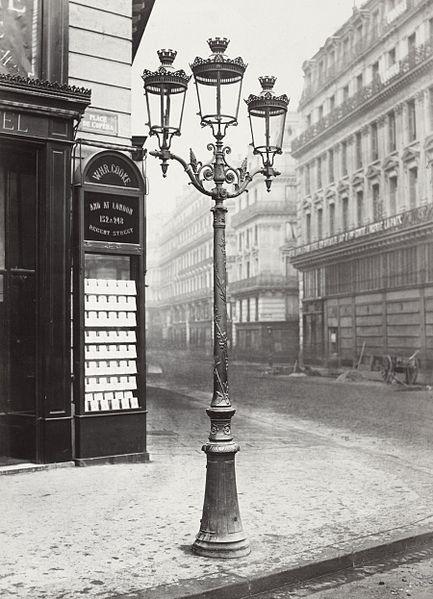 Plaque Ancienne Rue Gaz Ville De Paris
