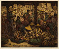 Charles William Bartlett. Market Day, Garoet. Java., c. 1923, Etching, engraving; hand-colored with watercolor..jpg