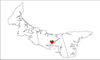 Sherwood, Prince Edward Island - Location of Sherwood, PEI