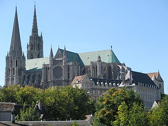 Place of worship - Chartres Cathedral is a cathedral of Roman Catholics in Paris.