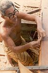 Che Ali bin Ngah building the bedar Naga Pelangi, 1981.jpg