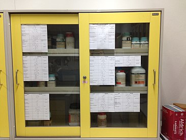 A Chemical Storage Cabinet
