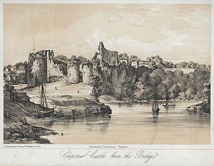 Chepstow Castle from the bridge