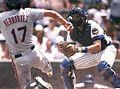 Chicago Cubs Wrigley Field 1987 Official Scorecard vs Philadelphia Phillies (Jody Davis crop).jpg