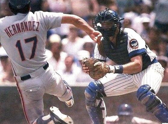 Chicago Cubs Wrigley Field 1987 Official Scorecard vs Philadelphia Phillies (Jody Davis crop)