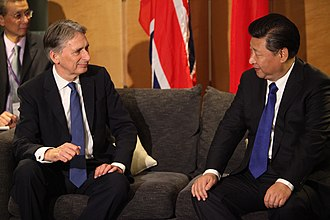 Philip Hammond - Hammond welcomes president of China and General Secretary of the Communist Party of China Xi Jinping to London, 19 October 2015