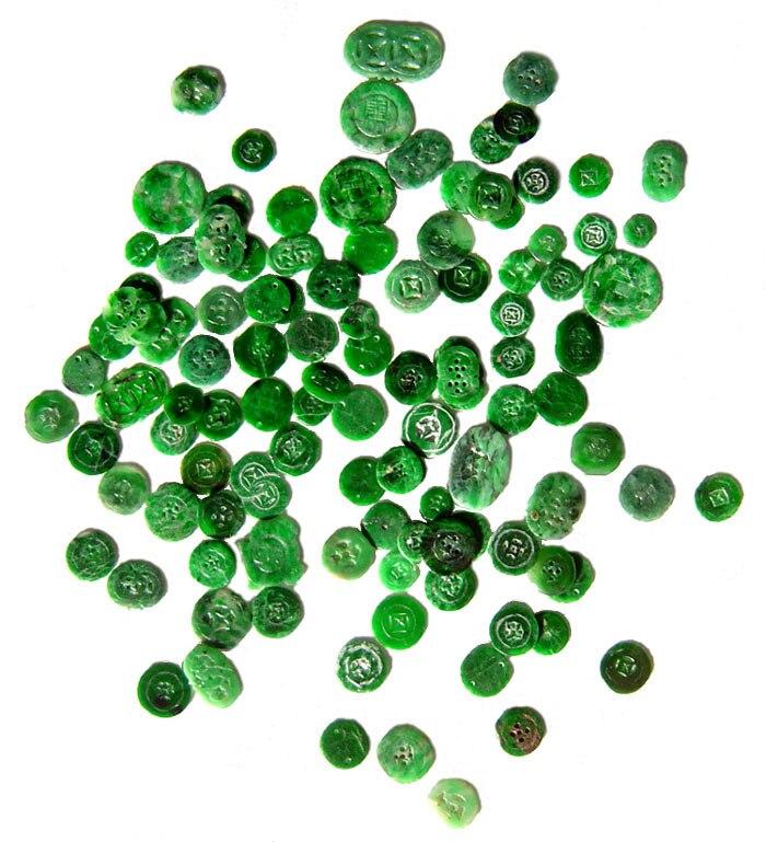 Chinese jadeite buttons