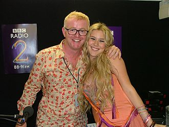 Joss Stone - Stone with BBC Radio 2 presenter Chris Evans in 2005