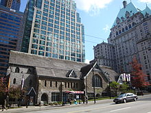 Die Christ Church Cathedral neben dem Hotel Vancouver