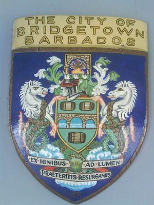 National symbols of Barbados - Image: City of Bridgetown, Barbados Armorial bearing