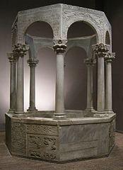 font baptismal del patriarca Callisto