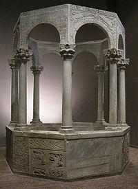 Cividale, museo cristiano, battistero di callisto 01.JPG