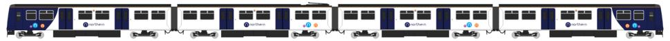 Class 319 Northern 2016 Diagram