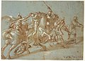 Classical Battle Scene; Verso- Peter and John Heal a Cripple at the Gate of the Temple MET DR329.jpg