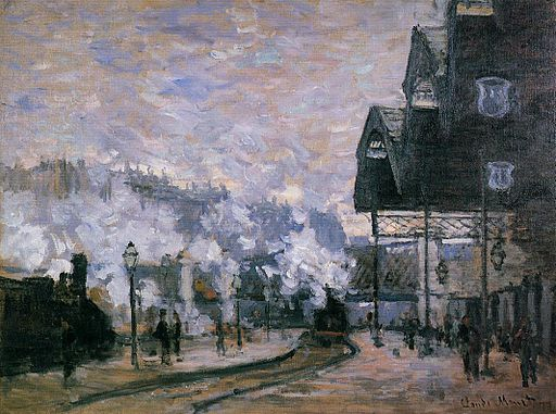 Claude Monet - Saint-Lazare Station, the Western Region Goods Sheds