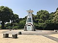 Clock tower in front of Sancho Station of Iwakuni Castle Ropeway.jpg