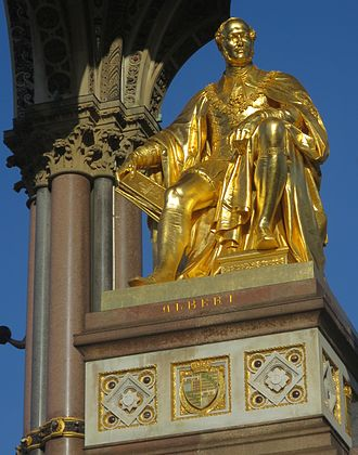 Albert Memorial - The Memorial statue of Albert, by John Henry Foley and Thomas Brock