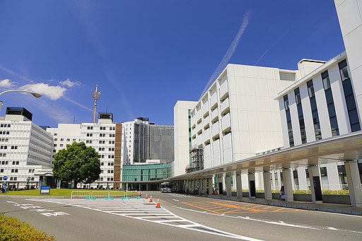 Close view of Fujita Health University Hospital Entrance 2018