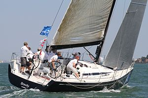 ClubSwan 42 - Image: Club Swan 42 at the 2013 Swan European in Cowes