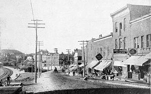 Cobalt, Ontario - Lang Street in Cobalt, 1911