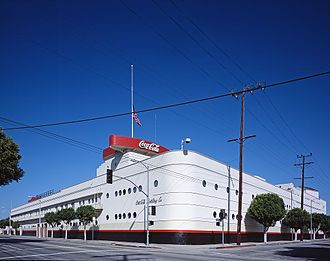 Robert V. Derrah - Coca-Cola Building (Los Angeles) (1939), an example of Streamline Moderne architecture