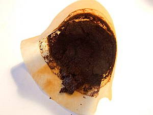 Coffee filter - Used coffee filter