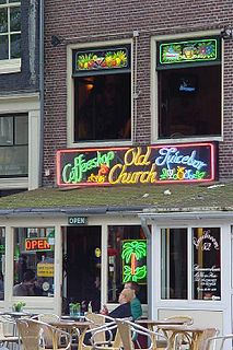 Coffeeshop (Netherlands) establishments in the Netherlands, where the sale of cannabis for personal consumption by the public is tolerated by the local authorities