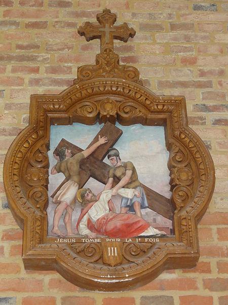 Coingt (Aisne) Église, chemin de croix, station 03