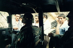 Operation Provide Comfort - Then-Lt. Col. John Abizaid speaking with some Kurds in Northern Iraq during Operation Provide Comfort, 1991