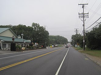 Colts Neck Township, New Jersey - Center of Colts Neck's business district at Route 34 and CR 537