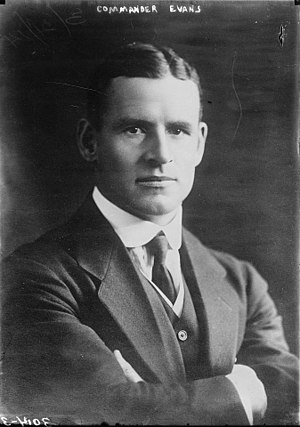 Edward Evans, 1st Baron Mountevans - Cdr Evans in a 1914-press photograph,  shortly after his return from the Antarctic