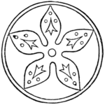 Fig. 490.—From the seal of Robert Fitz-Pernell, Earl of Leicester, d. 1206.