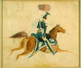 Constantin Guys - Image: Constantin Guys Man on Horseback Google Art Project