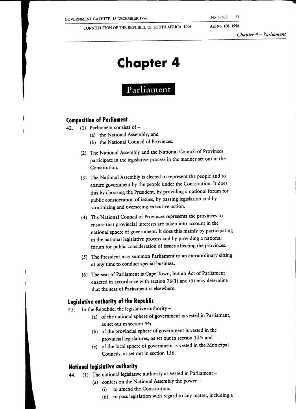 Legislative authorities: a selection of sites